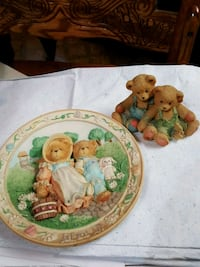 Cherished Teddies Plate & Figurine 268 mi