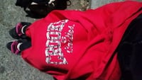 red and black printed pullover hoodie Surrey, V3T 4G7