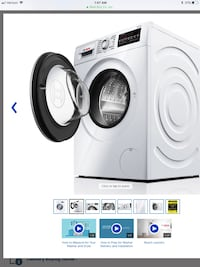 Bosch - 2.2 Cu. Ft. 15-Cycle High-Efficiency Compact Front-Loading Washer Moorpark, 93021