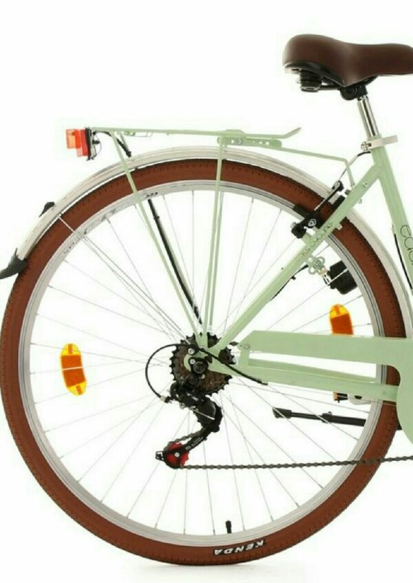 Rear bicycle wheel with 6 gear wheel