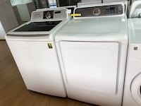Samsung white washer and dryer set  47 km