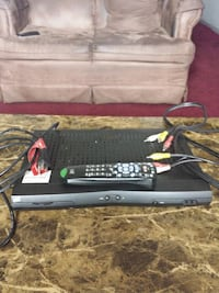 Dish Network Receiver  with Remote And a/v Cable