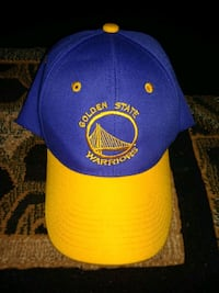 blue and yellow Golden State Warriors cap Stockton, 95207
