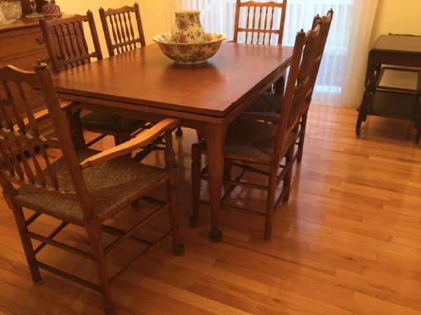 Stickley Cherry Valley Dining Room Table 6 Chairs