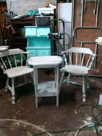 Grey distressed captains chairs and table Piedmont, 29673