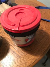 Red and white plastic container Weslaco, 78596