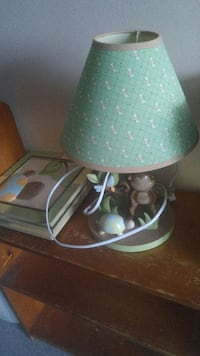 white and green table lamp Kingston, K7K 1W6