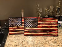 Customizable Wooden American Flags Fairfax Station, 22039