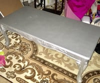 Rectangular gray wooden coffee table