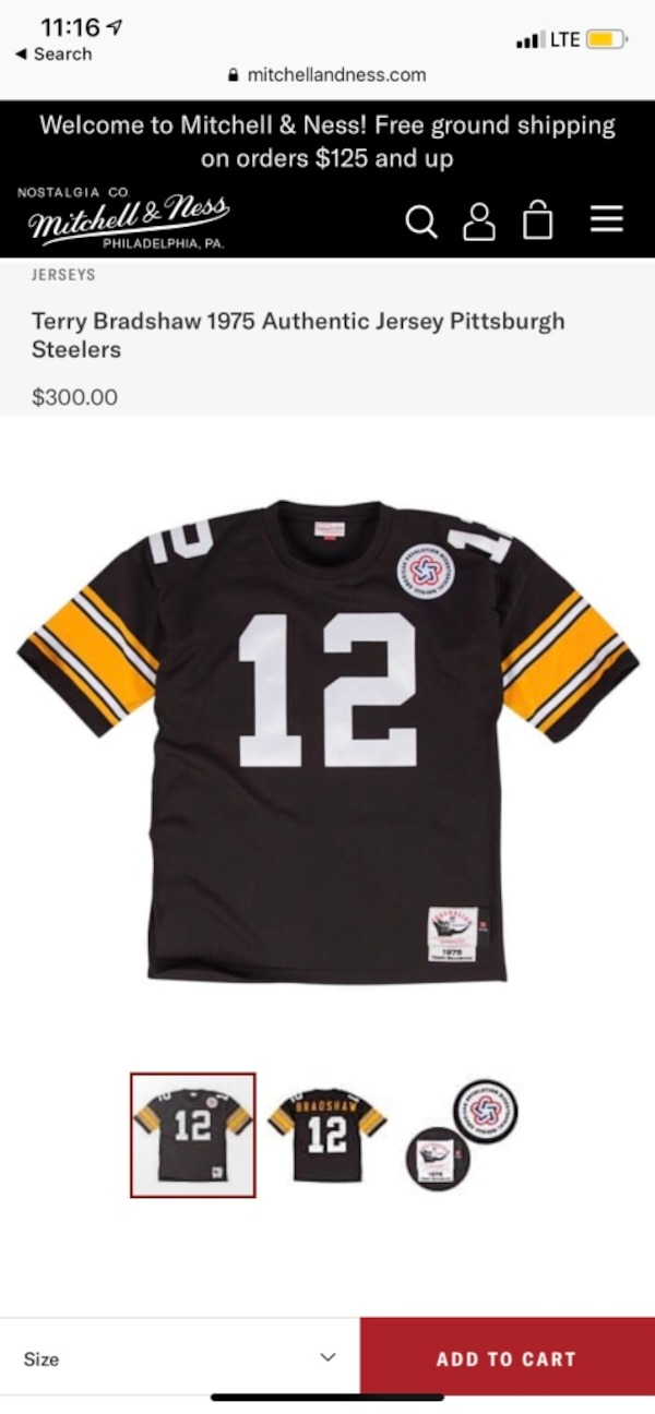 new product a0e6f eeb5f Authentic American Revolution Bicentennial Terry Bradshaw Jersey