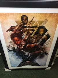 Black Panther Movie Poster Picture Frame Washington, 20036