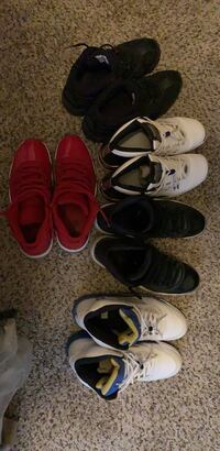 dfe9db85ad6 Five pairs of jordans shoes used 11s low 11s high 11s reds and 5s white and
