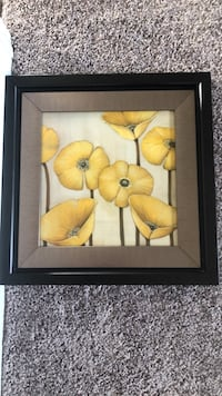 brown wooden framed painting of yellow flowers Warrenville, 60555