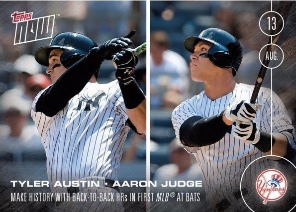 Topps Now Aaron Judgetyler Austin Baseball Card 351