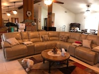 7 piece sectional three recliners plus a recliner it's beige in color and it's all leather six months old must sell Will not fit in my new house. Moving in two weeks Washington, 20024