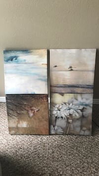 two brown wooden framed painting of birds Fayetteville, 72703