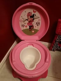 pink and white Minnie Mouse bather Springfield