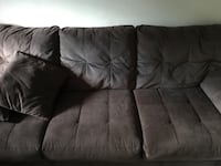 black suede 3-seat sofa Worcester, 01608