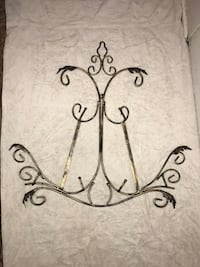 Black and gold wrought iron wall decor Lafayette
