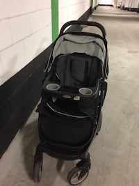 black and gray Graco stroller