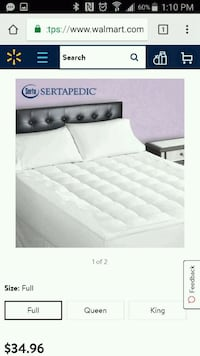 Full size matress topper
