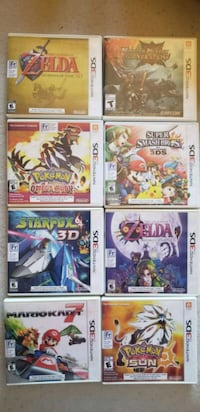 eight Nintendo 3DS game cases Laval, H7E 5L7