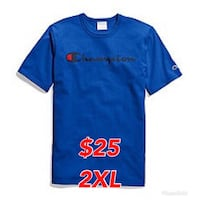 NEW Authentic Champion Script Logo Blue T-Shirt Toronto, M3K 2C1