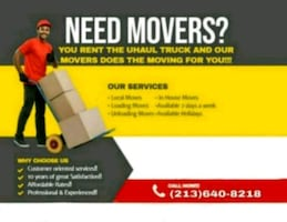 Long distance movers Available ALL DAY!!