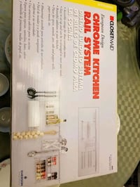 Chrome Kitchen Rail System - New In Box $30 obo Charlotte Hall, 20622