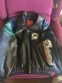 Dolphins miami black and green leather zip jacket Las Vegas, 89115