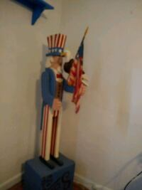 Wood Uncle Sam on Soap Box w Carved Eagle Virginia Beach, 23455