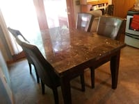 rectangular brown wooden table with four chairs dining set Springfield, 01151
