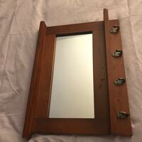 Wall mirror w/ shelf and hooks Chantilly, 20151