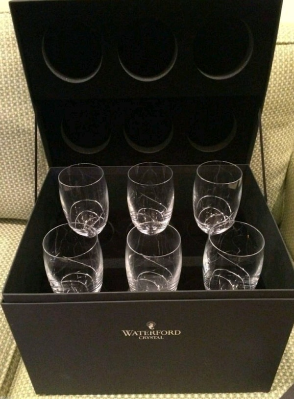 6 Waterford crystal glasses Ballet Ribbon Essence
