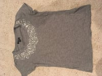 Banana Republic Xs grey beaded blouse  Langley, V3A