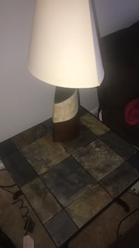 Marble tile side table and Lamp Burtonsville, 20866