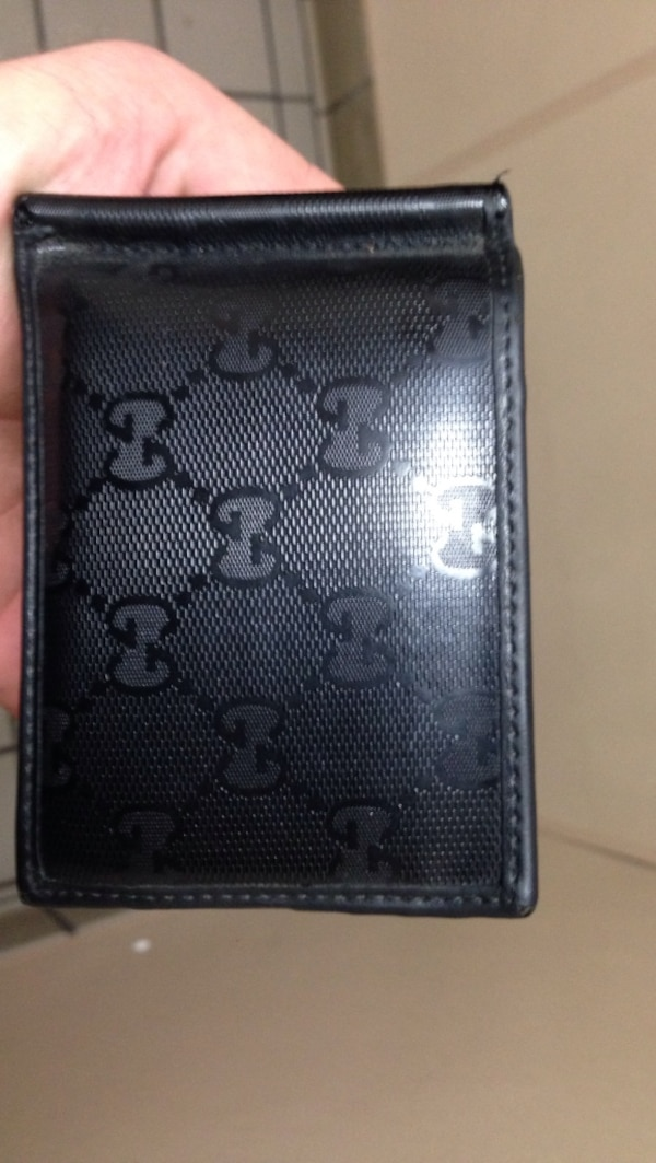 5b619a14e4b8e Used Gucci black men s wallet money clip style for sale in Eugene - letgo