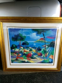 Large frame 3.5ftx3.5ft glass and printed painting 1920 mi