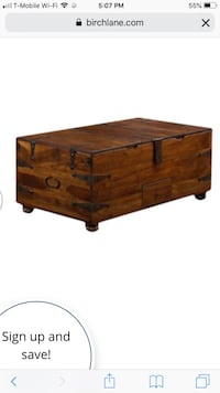 Wooden Coffee table and end table with storage Falls Church, 22042