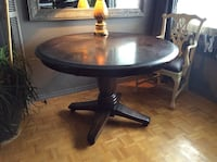 Round brown wooden dining  table Toronto, M5N