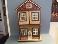 brown and red house miniature