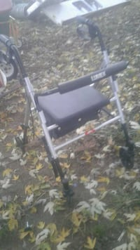 white and black rollator