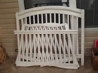 Baby's white wooden crib & toddler bed Newport News, 23602