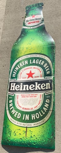 "72"" Heineken Lager Beer Cardboard Cutout Advertisement Sign Des Moines, 50313"