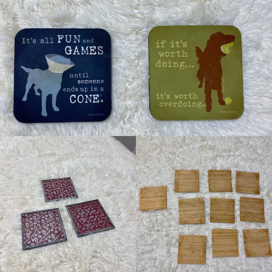 Assorted coasters