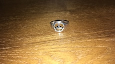 stainless steel Peace ring