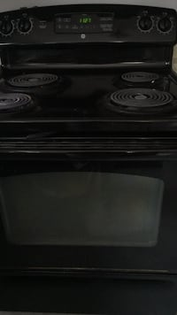 black 4-coil electric range oven Mississauga, L5N 5A8