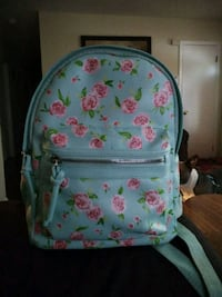 white and pink floral backpack Fayetteville, 28311