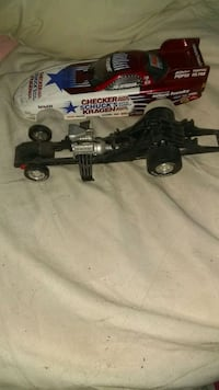 Checker racing model car all meal