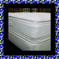 Twin mattress double pillow top with box spring Columbia